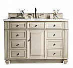 James Martin 48 inch Traditional Single Sink Bathroom Vanity Vintage Vanilla Finish