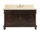 "Adelina 53"" Antique Solid Wood Bathroom Vanity"
