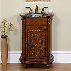 Accord Antique 24 inch Single Sink Bathroom Vanities Baltic BrownTop