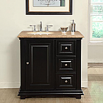 36 Inch Traditional Single Left Sink Bathroom Vanity