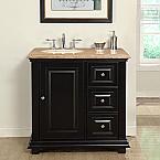 36 Inch Traditional Single Left Sink Bathroom Vanity