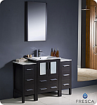 "48"" Modern Bathroom Vanity with Faucet, Color and Linen Side Cabinet Option"