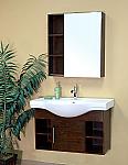 Bella 40 inch Medium Walnut Wood Single Bathroom Vanity