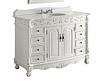 48 inch Adelina Antique Bathroom Vanity White Marble Top