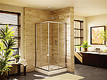 "Fleurco Banyo Amalfi 42"" Frameless Square Corner Shower Doors"