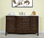 Accord 60 inch Contemporary Single Sink Bathroom Vanity Dark Walnut Finish