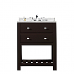 24 inch Dark Espresso Single Sink Bathroom Vanity