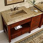 Art Silkroad 56 inch Modular Bathroom Vanity Granite Top