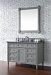 Abstron Contemporary 48 inch Single Bathroom Vanity Gray Finish No Top