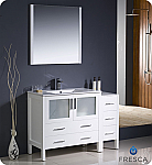 "48"" Modern Bathroom Vanity with Color, Faucet and Linen Side Cabinet Option"