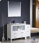 "Fresca Torino 48"" White Modern Bathroom Vanity"