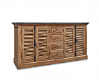 "71"" Handcrafted Reclaimed Pine Solid Wood Double Bath Vanity Natural Finish"