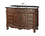 "Adelina 48"" Antique Bathroom Vanity with Coral Brown Granite Top"