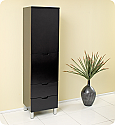 Espresso Bathroom Linen Cabinet 4 Storage Areas