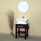 Bella 24 inch Walnut Finish Single Sink Bathroom Vanity