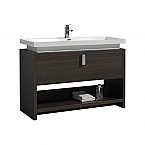 "Modern Lux 48"" Gray Oak Modern Bathroom Vanity w/ Cubby Hole"