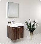 Alto 23 inch Walnut Modern Bathroom Vanity