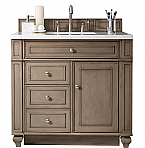 James Martin 36 inch Single Sink Bathroom Vanity Whitewashed Walnut Finish