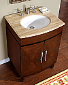 Accord Contemporary 26 inch Bathroom Vanity Dark Chestnut Finish