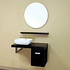 Bella 35 inch Black Finish Bathroom Vanity Set