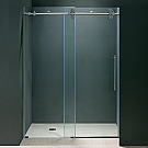 "Vigo 37""-72"" inch Frameless Shower Door Chrome Finish"