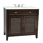 36 inch Adelina Cottage Brown Bathroom Vanity