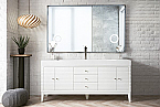 "James Martin Linear Collection 72"" Single Vanity, Glossy White"