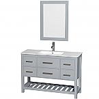 48 inch Single Sink Bathroom Vanity Set in Grey Finish