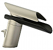 Single Handle Lavatory Faucet with Glass Spout in Chrome