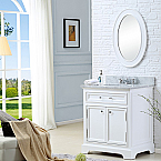 30 inch Traditional Bathroom Vanity Marble Countertop