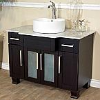 Bella 40 inch Single Sink Bathroom Vanity Italy Carrara Marble Top