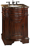 26 inch Adelina Petite Antique Bathroom Vanity Cherry Finish