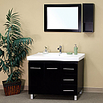 Bella 39 inch Black Finish Single Bathroom Vanity