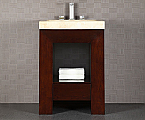 24 inch Bathroom Vanity Dark Walnut Finish