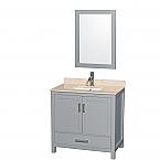 Accmilan 36 inch Transitional Grey Finish Bathroom Vanity Set