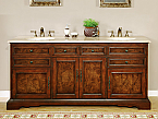 Accord Antique 72 inch Double Sink Bathroom Vanity Travertine Countertop