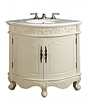 Adelina 24 inch Corner Antique Bathroom Vanity Antique White Finish