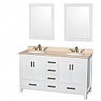 60 inch Double Sink Bathroom Vanity White Finish