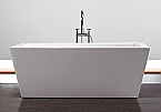 Virtu Serenity 67 inch White Free Standing Soaking Bathroom Tub