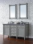 Abstron Contemporary 60 inch Double Sink Bathroom Vanity Gray Finish No Top