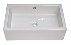 Bath Wall Mount Rectangular Porcelain Sink White Color
