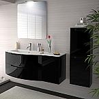 Anity 43 inch Modern Floating Bathroom Vanity Black Glossy Finish