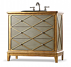 Lauren 42 inch Hall Chest Bathroom Vanity by Cole & Co. Designer Series