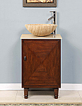 Accord Contemporary 20 inch Travertine Vessel Sink Vanity