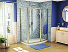 """Fleurco 57"""" to 58"""" x 75"""" Roma Bowfront Curved Sliding Door"""