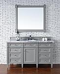 Abstron Contemporary 60 inch Single Bathroom Vanity Gray Finish No Top