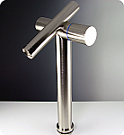 Brushed Nickel Trebia Single Handle Vessel Faucet