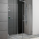 Vigo 66 inch Frameless Shower Door Chrome Finish
