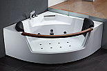 EAGO AM197 5' Rounded Clear Contemporary Corner Whirlpool Spa