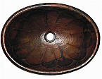 Copper Oval Pumpkin Sink Chocolate Finish, Finest Handmade
